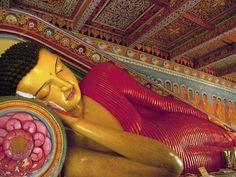 Anuradhapura UNESCO World Heritage Site Reclining Buddha Statue Sri Lanka