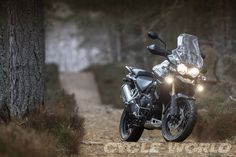 2014 Triumph Explorer XC - lights on. Adventure motorcycle