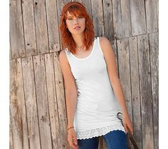 Top s volánem Basic Tank Top, Tank Tops, Women, Fashion, Moda, Halter Tops, Fashion Styles, Fashion Illustrations, Woman