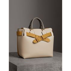 2a532f24487 The Medium Tri-tone Leather Belt Bag in Limestone   Cornflower Yellow -  Women. Burberry United States