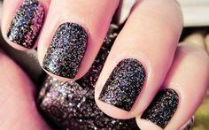 Tendencias uñas Otoño 2013: Purpurina negra