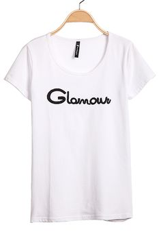 White Short Sleeve Glomowu Print T-Shirt - Sheinside.com
