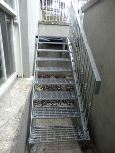 Fire escape stairs, Brendan Buggy Steel Fabrication Ltd. Dublin ... (Patio Step Handrail)