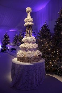 Wondrous Winter Wonderland Wedding | Revelry Event Designers | Coordinator: Sharon Sacks & Sacks Productions | Wedding Cake: Sam Godfrey