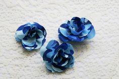 Blue Camo Roses  10 Medium Camo Roses  Camo Wedding  by IDoDoodads, $11.50