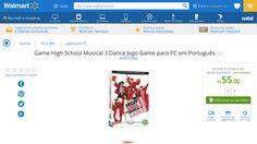 [Wal-Mart] Game High School Musical 3 Dance Jogo Game para PC em Português 3170974 - de R$ 170,99 por R$ 55,00 (67% de desconto)