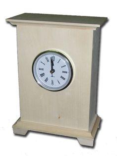 Zegar stojący DREWEKS :: WYROBY Z DREWNA :: WYROBY DREWNIANE :: GALANTERIA DRZEWNA - skrzynki drewniane, pojemniki drewniane, tace drewniane, bizuteria drewniana, zegary drewniane.