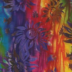 TROPICAL EXPLOSION RAYON BATIK FABRIC - Rayon Batik Fabrics - Fabric - Nancy's Notions