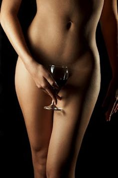 Woman Naked With Wine 114