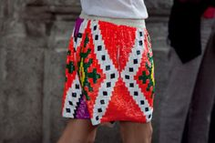 African design sequin shorts