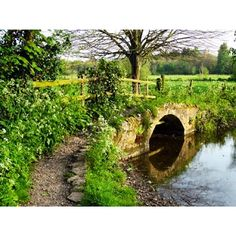Small stone bridge beyond Blue Bridge, Dorchester, Dorset