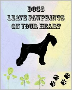 Schnauzer Dog Art Print 8 X 10 Print Baby Nursery Home by PetGifts, $11.99