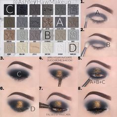 Makeup Eye Looks, Beautiful Eye Makeup, Eyeshadow Looks, Pretty Makeup, Eyeshadow Makeup, Makeup Inspo, Makeup Tips, Beauty Makeup, Makeup Hacks