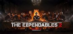 The Expendables 2 Last Supper poster.