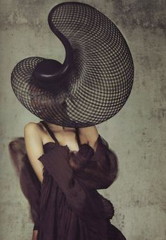 Vogue Russia, July 2011, Photographer: Bettina Rheims, Dress by Emilio Pucci, Hat by Philip Treacy