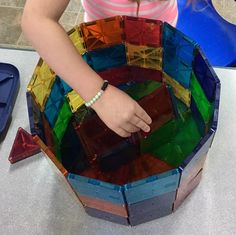"""#creativity with magnatiles. #balance #problemsolving #quality #licensed #familychildcare"""" Indoor Activities, Toddler Activities, Magna Tiles, Family Child Care, Times Tables, Problem Solving, Legos, Magnets, Crafts For Kids"""