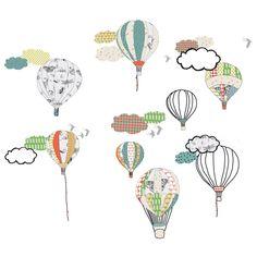 Stickers muraux montgolfières : Mimi'lou - Stickers mixte - Berceau Magique