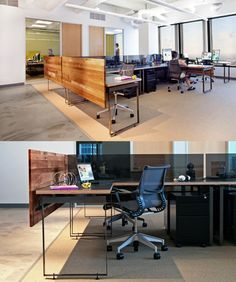 Open Plan Office with wood panel~ :) #openplanoffice