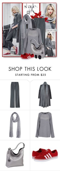 """""""Shades of Grey With a Pop of Red"""" by brendariley-1 ❤ liked on Polyvore featuring s.Oliver, Wes Gordon, Avant Toi, Dorothy Perkins, COSTUME NATIONAL, Sydney Love, adidas Originals and Una-Home"""