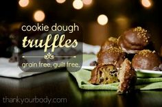 Grain Free Cookie Dough Truffles