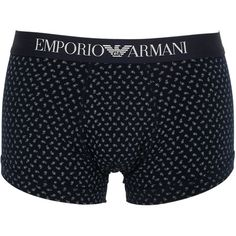 c00a2f79689a Emporio Armani Men Print Stretch Cotton Jersey Boxer Briefs (135 BRL) ❤  liked on Polyvore featuring men's fashion, men's clothing, men's underwear,  navy, ...