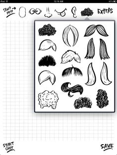 Face Doodle free download for iPhone & iPad | FreeNew Doodle Sketch, Doodle Art, How To Draw Anything, Face Doodles, Doodle People, Learn To Draw, Sketchbooks, Ipad, Crafting