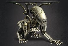 Scrap Metal Alien Dining Table