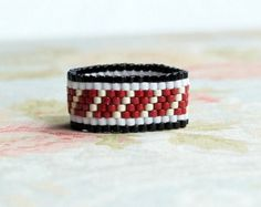 Seed Bead Ring Peyote Ring Delica Ring Beaded by SentimentoShop