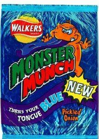 Monster munch that made your tongue blue!