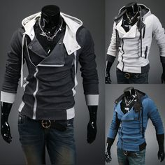 Cultivate one's morality spell color flannelette fleece jacket man inclined placket fleece plus-size assassins creed fleece