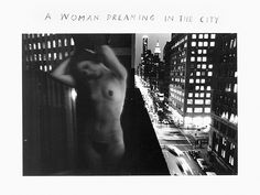 """Duane Michals, """"A Woman Dreaming in the City"""" (1968). 8 x 10 silver gelatin photograph"""