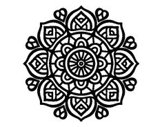 Mandala for mental concentration coloring page