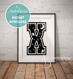 NURSERY LETTER X Print, Letter X, Letter X Print, Letter X Decor, Alphabet, Nursery Decor, Letter X Nursery, Nursery Art, Nursery Alphabet by AmberstoneDesign on Etsy Alphabet Nursery, Nursery Letters, Nursery Art, Nursery Decor, Typography Art, Lettering, Penguin Drawing, Black And White Printer, Photo Store