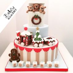 A Christmas Christening - Cake by Bella's Bakery