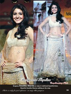 This beautiful beige netted lehenga has sequins and zari work with satin lining and blouse on work. The dupatta is made of pure net with golden zari work on it.