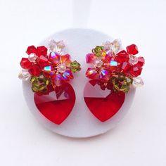 Earrings in Red hot ....