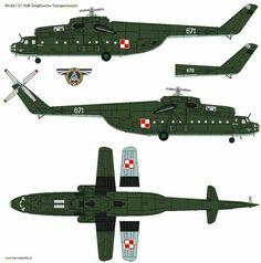 Миль МИ-6А тяжелый военно-транспортный вертолет ВВС Польши