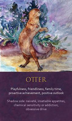 alice in wonderland oracle cards Otter Spirit Animal, Animal Spirit Guides, Animal Meanings, Animal Symbolism, Spiritual Animal, Animal Medicine, Power Animal, New Energy, Oracle Cards