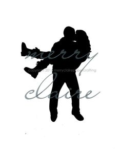 Custom, hand-cut silhouettes make a great wedding, bridal shower or anniversary gift!