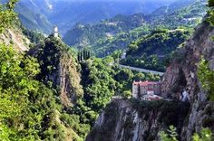 The Monastery of Proussos in the mountain region of Evrytanía, Central Greece