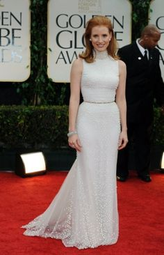 Jessica Chastain at Golden Globes 2012