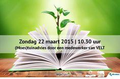 Op zondag 22 maart om 10.30 uur zijn er medewerkers van Velt vzw in de hoofdbib die jullie advies geven over tuinieren.