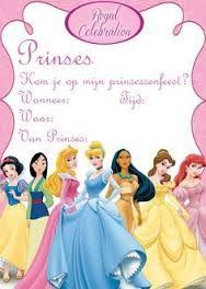 Afbeeldingsresultaat voor uitnodiging prinses