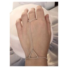 Hand Harness Triangle Tribal Chic Jewel  by FemmeMecanique on Etsy, $55.00