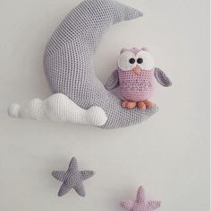 Troetels en zo: Owl on the moon. Free (Dutch) pattern