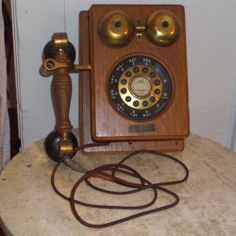 VINTAGE ROTARY CORDED WALL PHONE- THE COUNTY LINE TELEPHONE #shop #vintage #telephone #ebay #beautiful #funkythrift.com