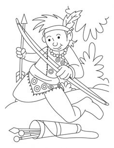 Archery Coloring Page  Download Free Archery Coloring Page for