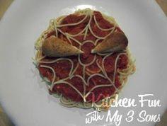 Spider Man Spaghetti - Kitchen Fun With My 3 Sons