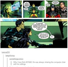 """""""He (Dick) is always sharing the computer chair with his siblings."""""""