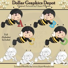 Spelling Bee Alphas - Combo Set - $1.00 : Dollar Graphics Depot, Your Dollar Graphic Store